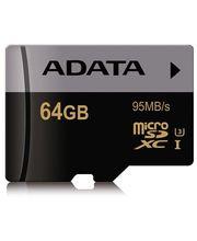 Adata paměťová karta microSDXC Premier Pro 64GB Class 10 U3 + SD adaptér