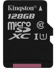 Kingston microSDXC 128GB Class 10/UHS-I, zápis 10MB/s + SD adaptér