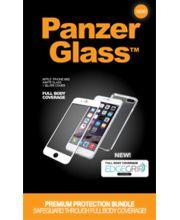 PanzerGlass ochranné tvrzené sklo pro Apple iPhone 6 a 6S, displej + tělo, bílé